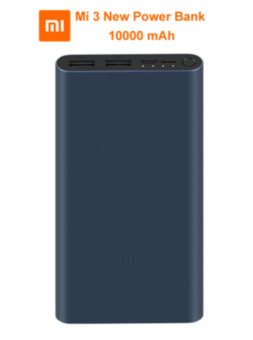 Xiaomi Mi Power Bank 3 NEW 10000mAh с двумя USB-портами , Type-C и microUSB